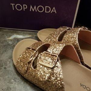 Top Moda Glitter Sandals